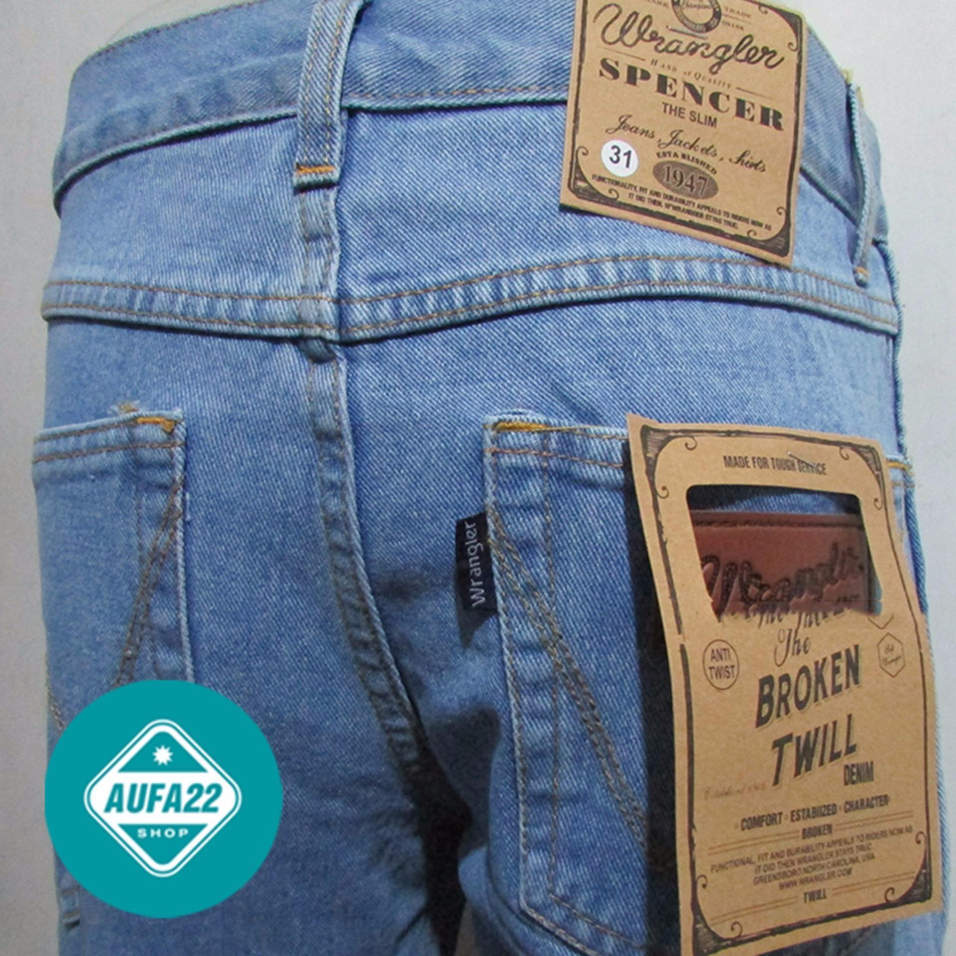 Celana Jeans Wrangler /lea Biru Tua Model Straight By Nee Cloth.