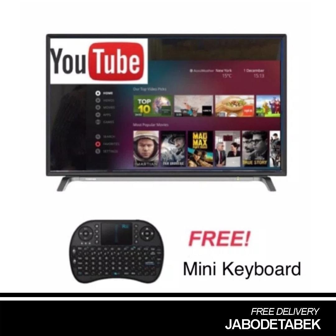 Toshiba 43L5650 Smart TV LED [43 Inch/Full HD/Opera/L56 Series] + Mini keyboard