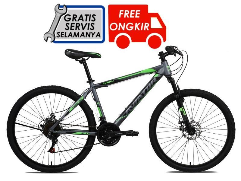 Aviator Sepeda Gunung Mtb At 2688 2 - Gratis Ongkir & Perakitan Khusus Jabodetabek By Ss Bike Shop.
