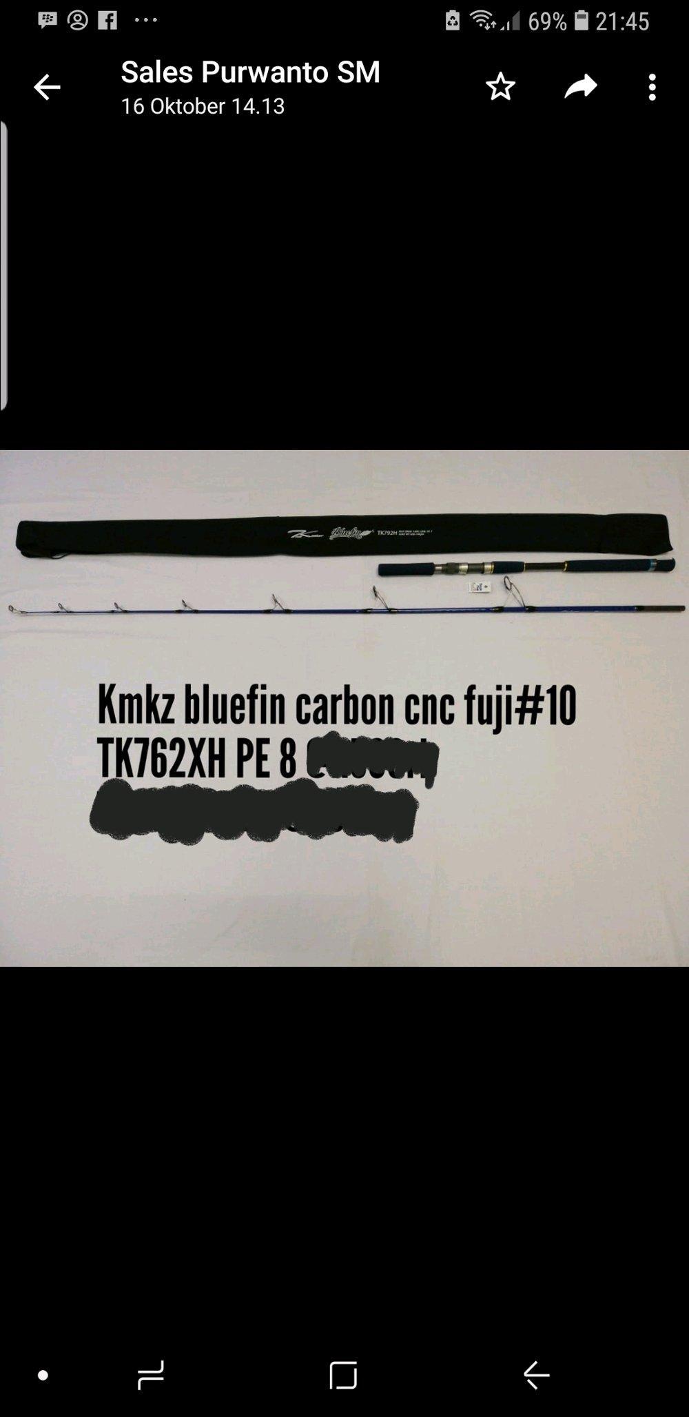 Kamikaze Bluefin Carbon Tk762Xh Pe8
