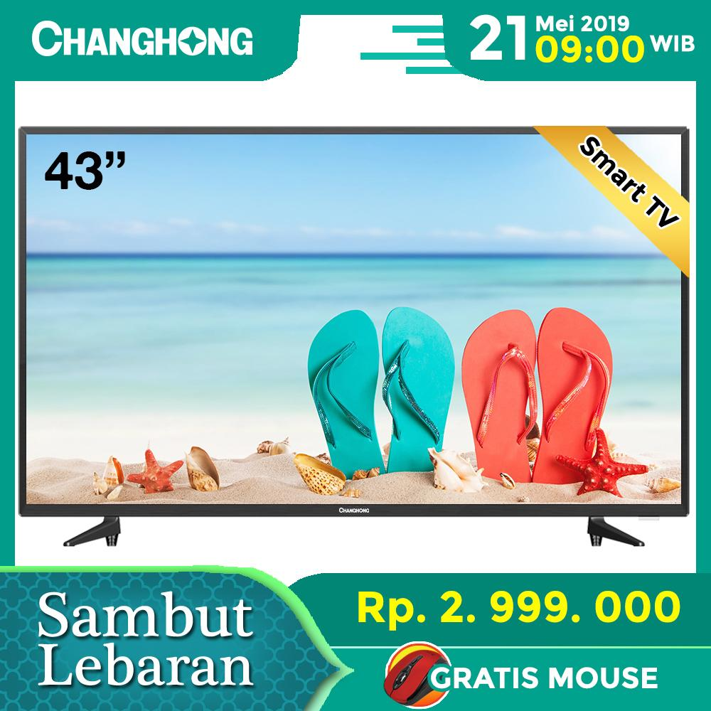 CHANGHONG LED TV 43 Inch - Android Smart TV - Full HD TV - USB/HDMI - L43H5i - Garansi Resmi 3 Tahun