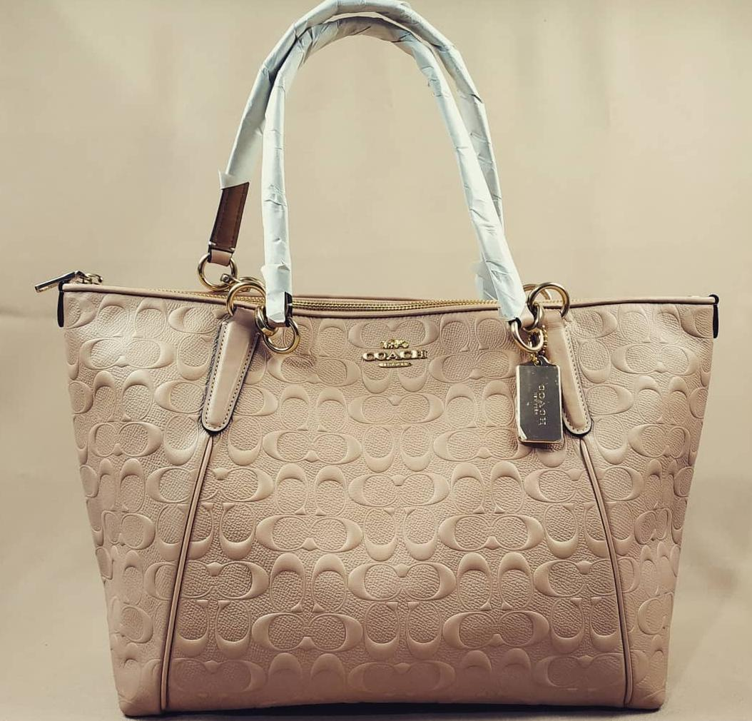 Tas Branded - Original Coach Ava Tote Emboss Nude 55dd5735be
