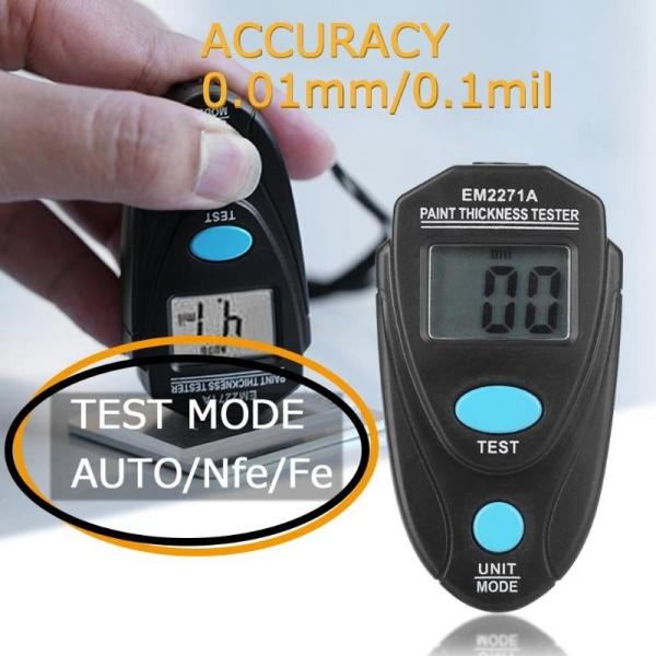 EM2271A Digital Car Painting Coating Thickness Tester Gauge w/Sheet Adjustment