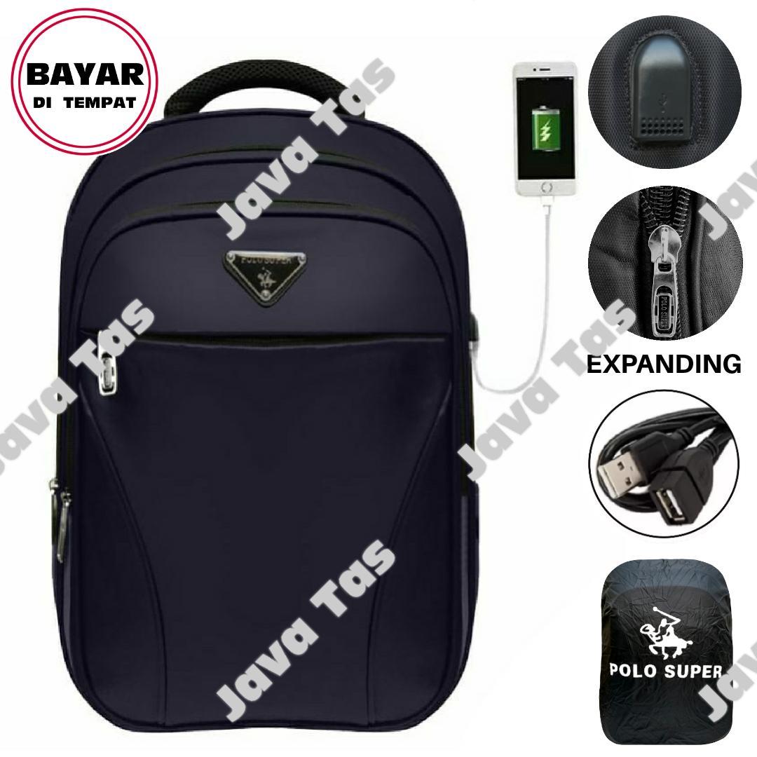 ba5db0e3dc Free Ongkir-Java Tas Ransel Laptop Polo Super Navy Cup Tas Ransel Pria Tas  Ransel