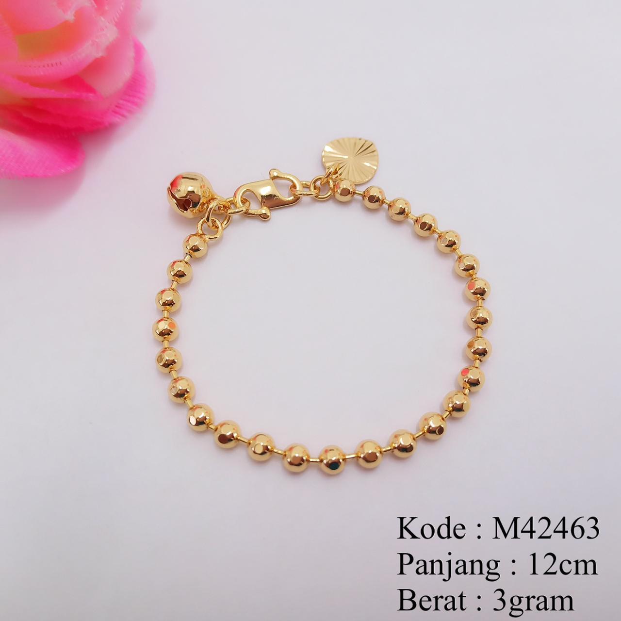 [BAYAR DITEMPAT]Gelang Tangan Anak Bayi Rantai Lapis Emas Missi Fashion Jewelry