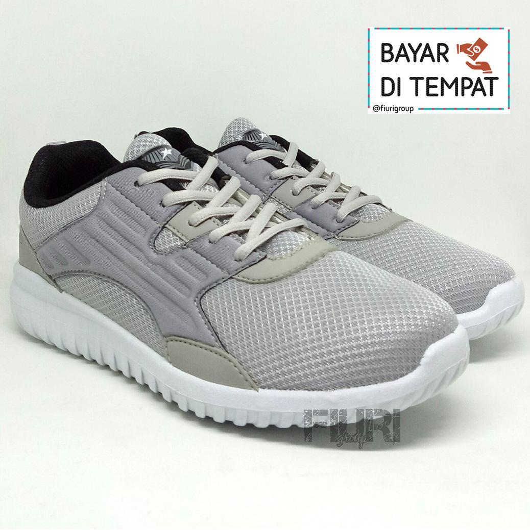FIURI - Pro ATT Original - FRC 001 AbuAbu 40-43 - Sepatu Sneakers Pria - Sepatu Olahraga Pria - Sepatu Lari Pria - Sepatu Jogging Pria - Sepatu Sport - Sepatu Murah - Sepatu Diskon