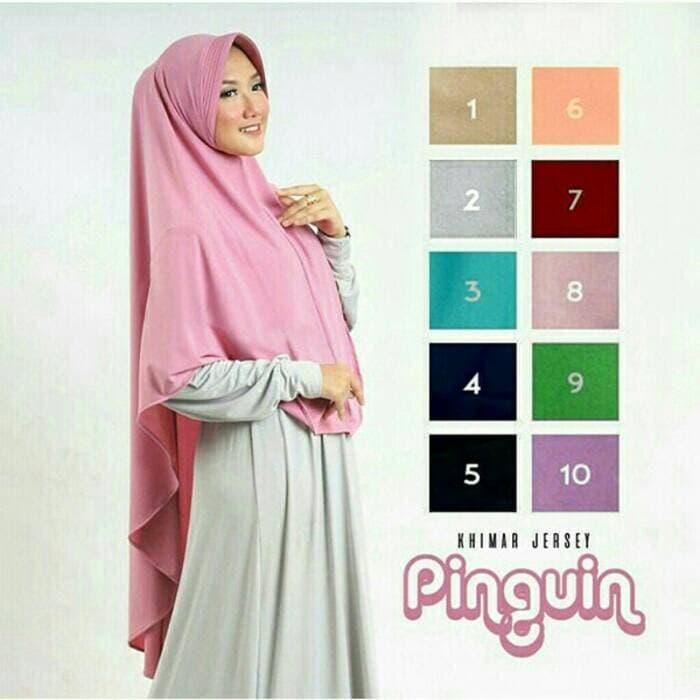 Hijab Jilbab Bergo Kerudung Khimar Instan Pinguin Pad Murah / Dza Laris Fashion By Dza Laris Fashion
