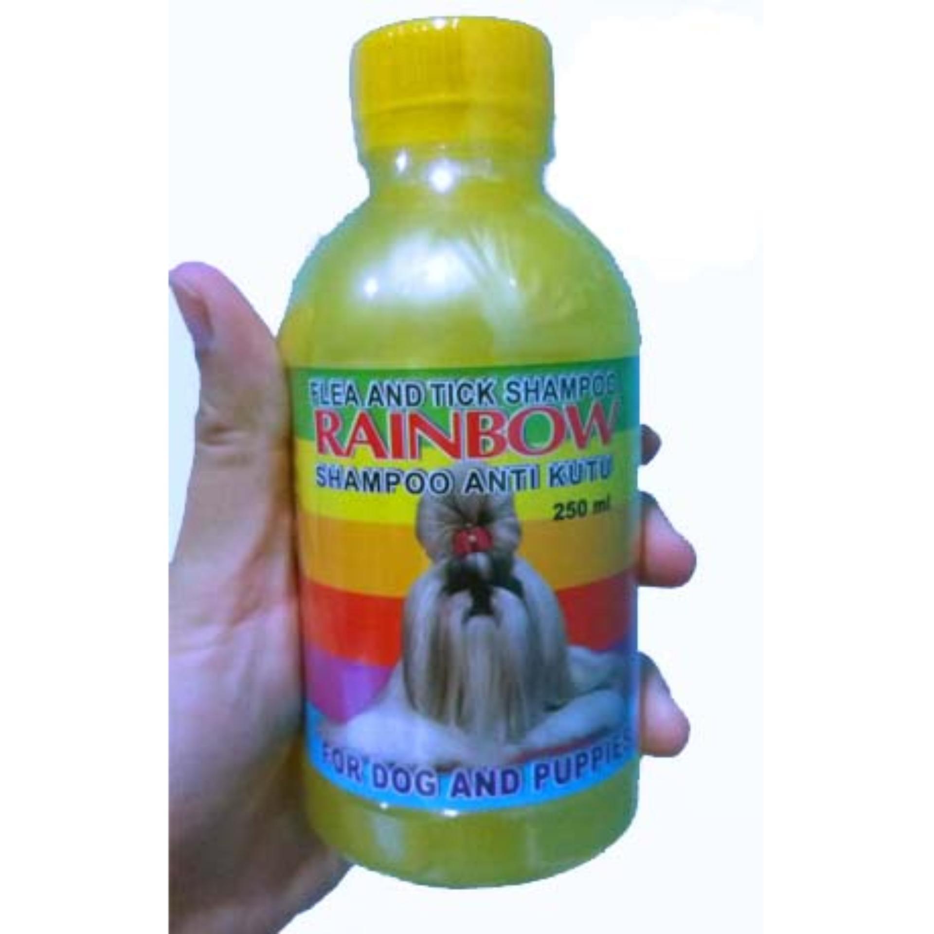 Shampoo Anti Kutu Anjing & Flea Rainbow Ukuran 250ml Kuning By Selaludihati.