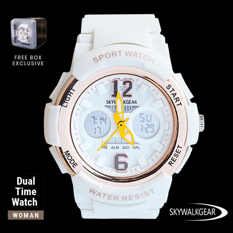 Jam Tangan Wanita Tahan Air - GLADYS - Woman Sport Watch Dual Movement