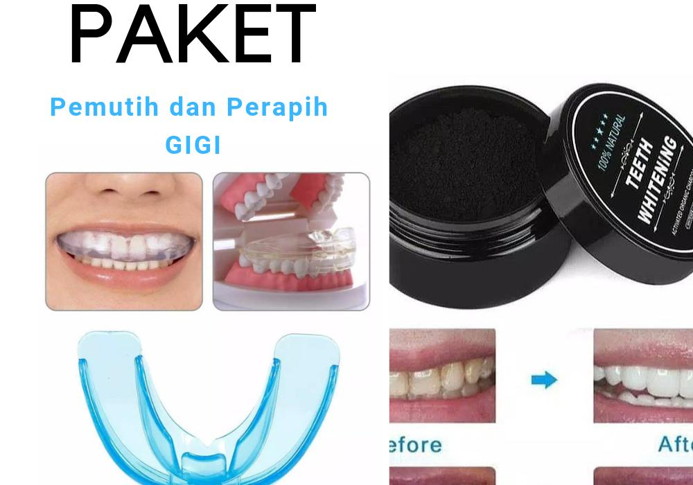 Big Promo Termurah Paket Pemutih Gigi Dan Perapih Gigi Perapi Orthodentic Retainer Teeth Trainer Allignment Usa / Behel Gigi Original Import + Charcoal Powder Activated Teeth Whitening Pot Best Seller Pemutih Gigi Paling Ampuh - Bisa Cod Bayar Ditempat By Zaidanstore.