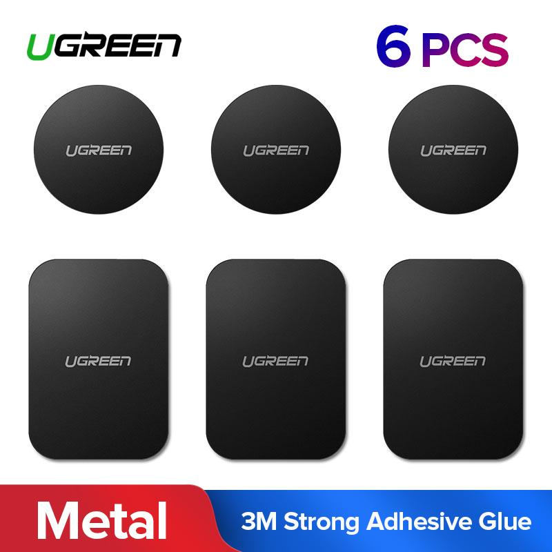 UGreen 6 Pack Universal Magnetic Iron Sheets For Car Phone Holder Matal Plate Use for Magnet