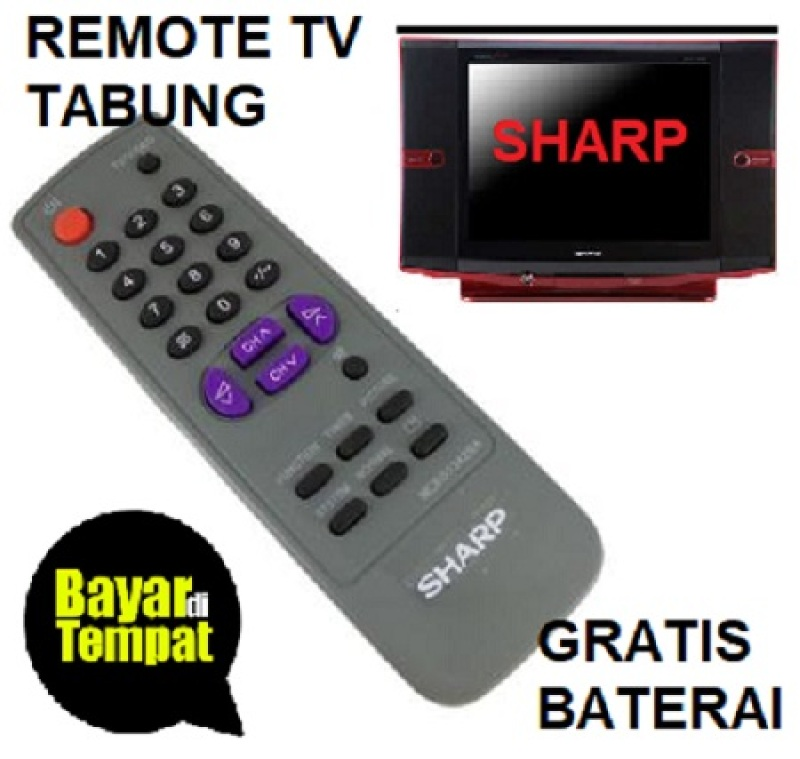 Remot Remote TV TABUNG SHARP Gratis Baterai_MSS27