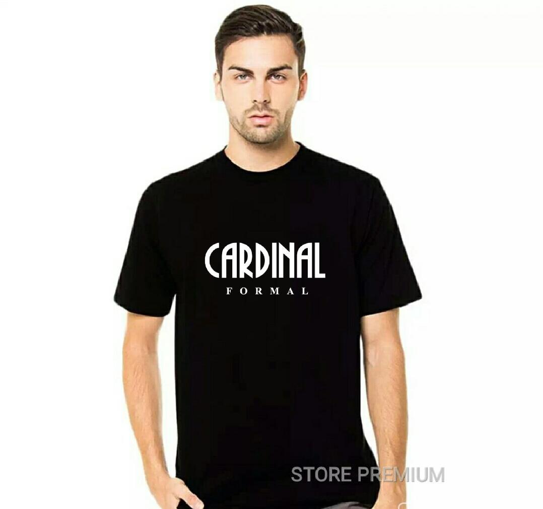 Kaos Distro Cardinal Formal Premium Quality Text Putih