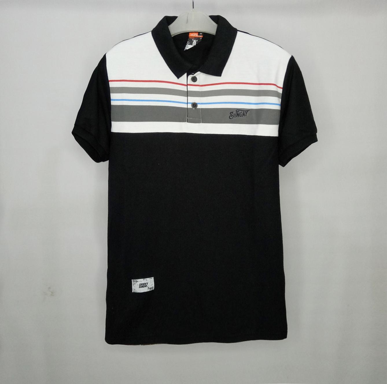568d188e Baju kece polo shirt navy mix putih lines /strip poloshirt pria kaos kerah  pria exlusif