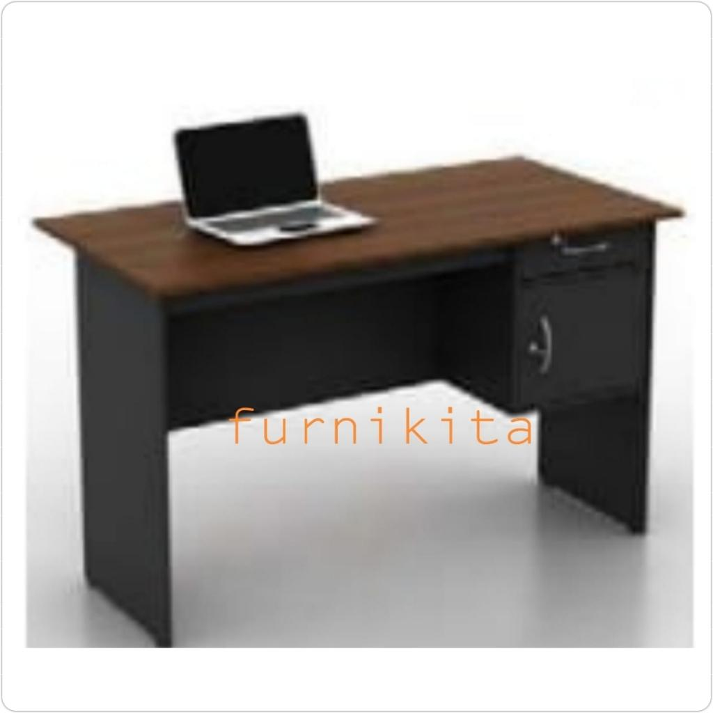 Meja Kerja / Meja Tulis / Meja Kantor Modern Minimalis Setengah Biro