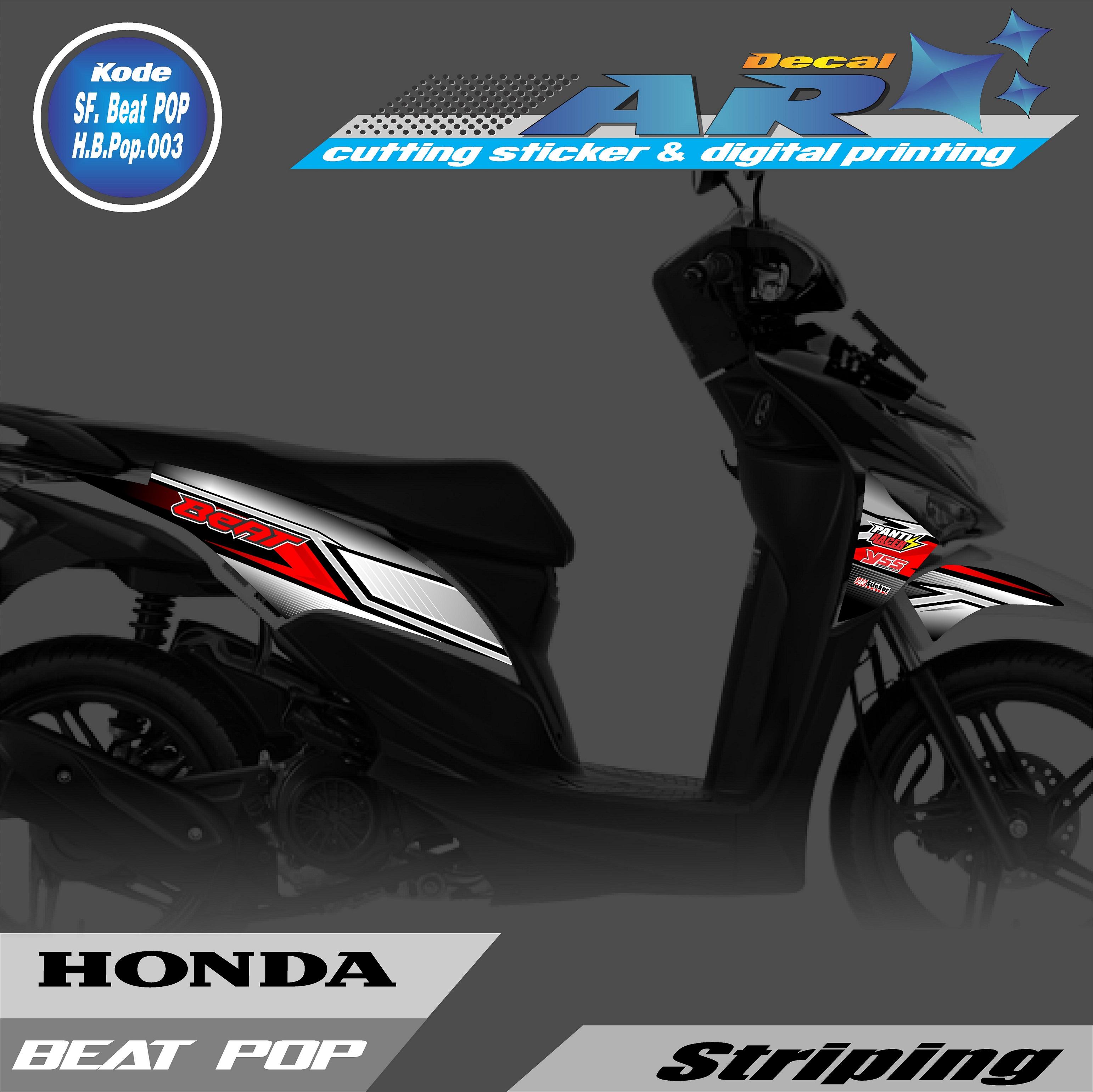 Stiker Motor Beat Pop Striping Beat Pop Stiker Beat Pop 002 Lazada Indonesia
