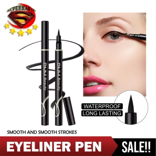 Dnm Eyeliner Waterproof - Eyeliner Pencil Pigmented Kosmetik Perona Alis - Pensil Alis Anti Air Dan Tahan Lama - DNM Pen Eyeliner Spidol Waterproof Long Lasting 24Hour - Warna Hitam thumbnail