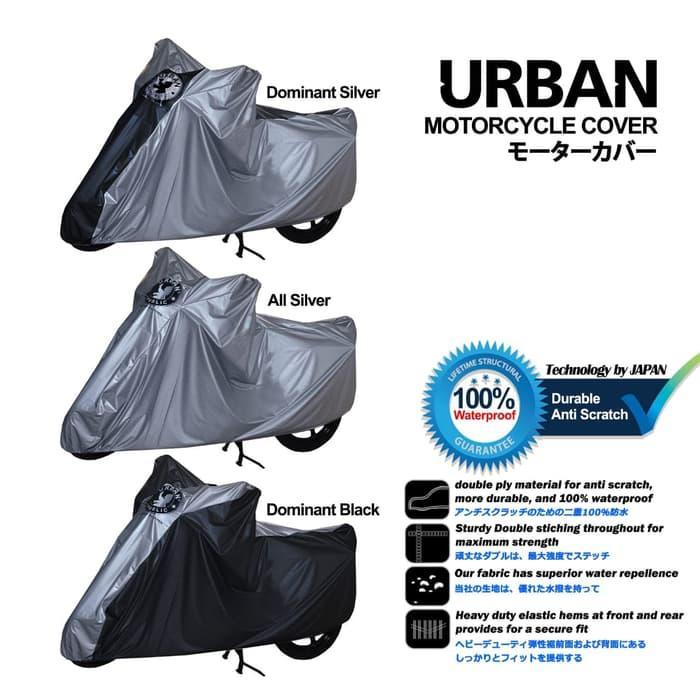Cover Motor Urban Sarung Motor Matic Bebek Vario Mio Beat Supra Scoopy - Hitamlistsilver By Gallery Nazwa.