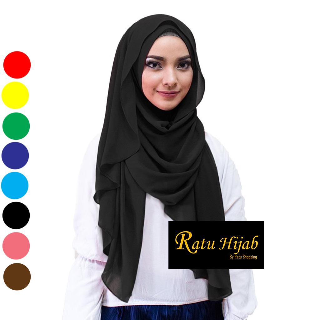 jilbab Pashmina Sabyan Diamond Italiano Hijab Segi Empat
