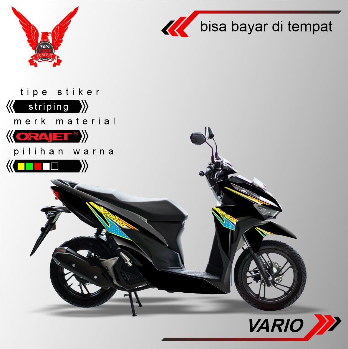 FENSTORE Cutting Sticker Aksesoris Dan Variasi Decal Sticker Thailook Vario Edition Concept Sticker