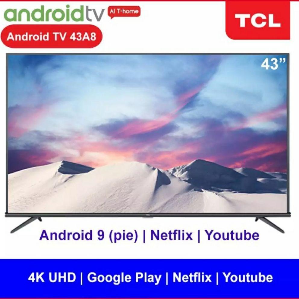 TCL 43 Inch 43A8 Android TV Free Packing Kayu Garansi Resmi