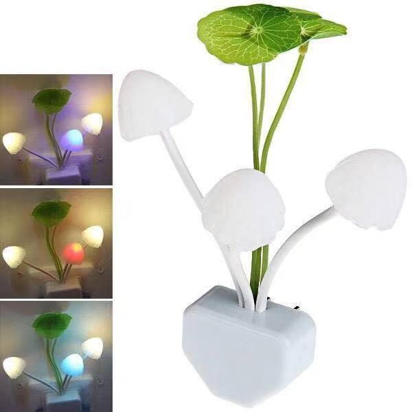 Lampu Tidur LED Bentuk Jamur / Lampu Hias / Model Avatar / Sensor Cahaya Auto On