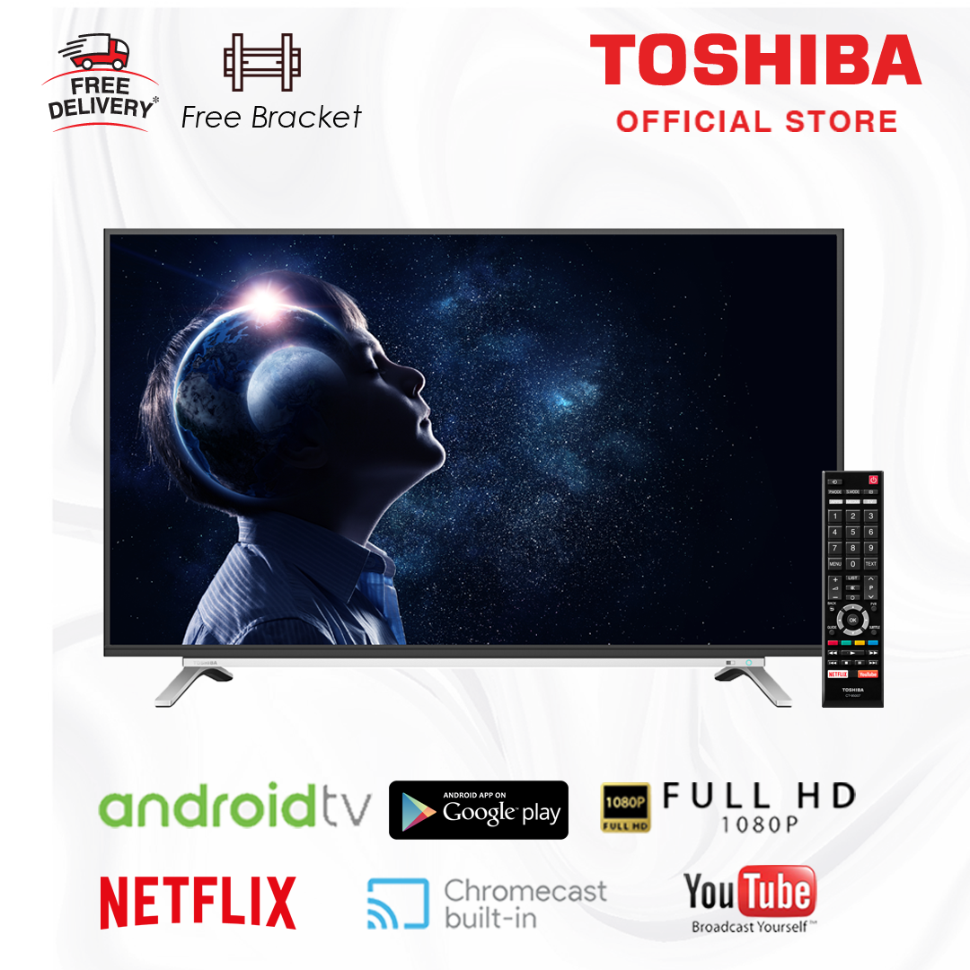 Toshiba 43 inch 2K LED Android Smart Digital TV FHD [Free Bracket] 43L5995 - FHD with Google You