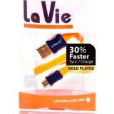 Letouch Lavie Gold Plated Microusb Cable Faster Charge Sync 1M Oranye Le Touch Diskon 40