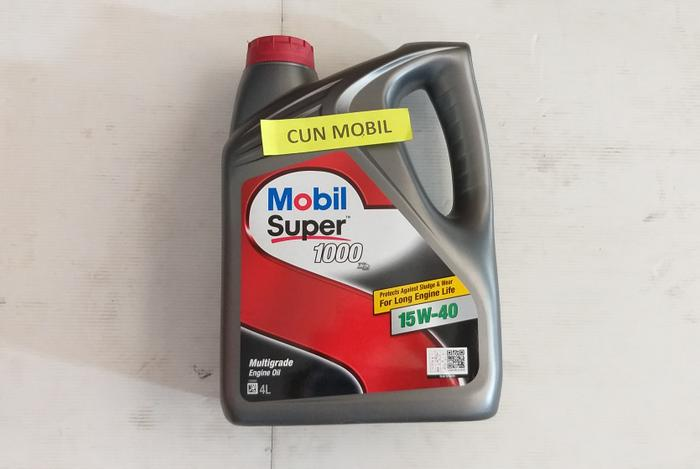 Oli mesin Mobil Super 1000 15W-40 Multigrade Engine Oil.Diesel 4 liter