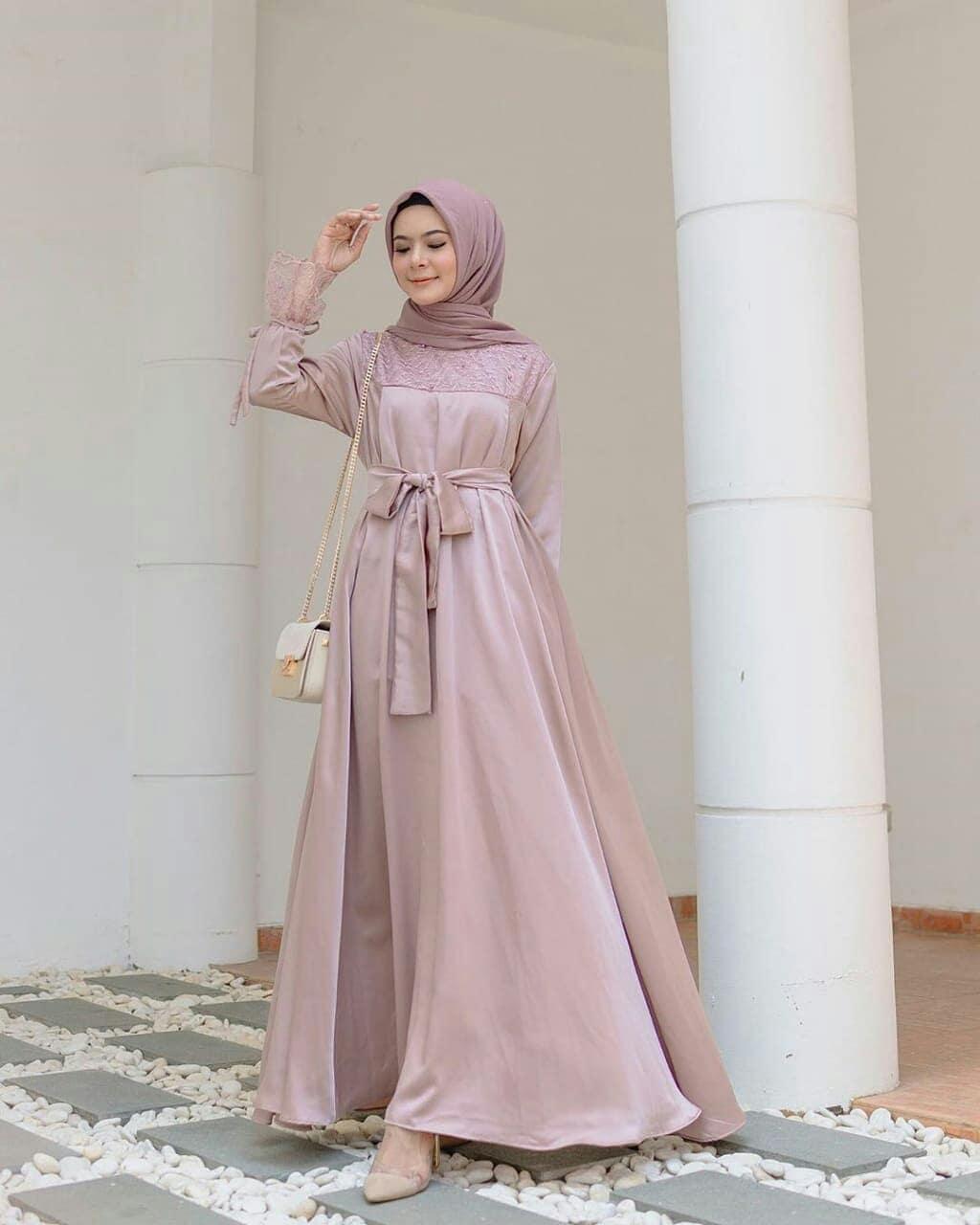 Zhirana Dress Gaun Pesta Baju Muslim Modern Dress Muslim Terbaru Baju Gamis Kebaya Brukat Baju Muslim Terbaru Kebaya Kondangan Baju Murah Gamis Modern
