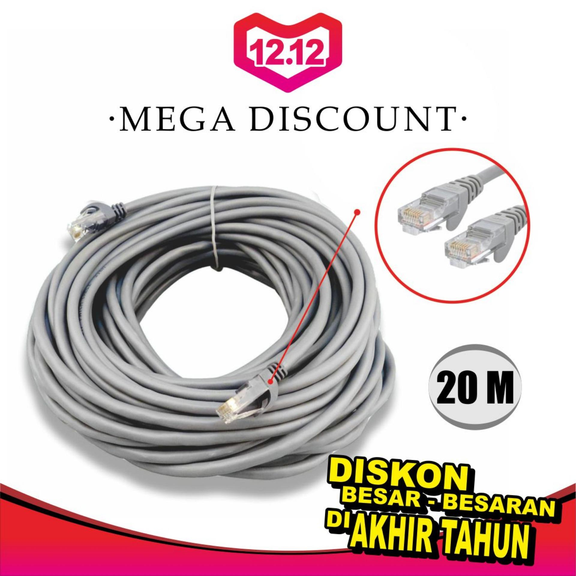 Wei Tech Kabel Lan Jadi Cat 5e 20 Meter By Weitech.