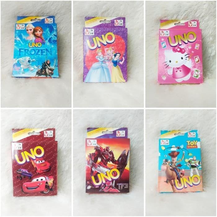 Mainan Anak keluarga Kartu UNO Karakter / UNO Card Games