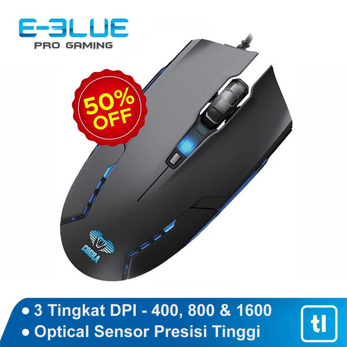 Mouse Gaming E-Blue Cobra Junior II - EMS151 Hitam Original Garansi   Mouse  Gaming e331815966