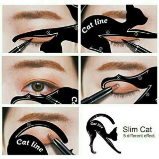 Cetakan Cat Line Eye Makeup Cetakan Eyeliner Template Makeup Tools Kit Cat Eye Alat bantu cetak Eyeliner - 1 SET ISI 2 PCS thumbnail