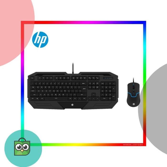 TERBARU TERMURAH ORIGINAL HP GK 1000 Paket Keyboard Mouse Gaming Combo k1000 PROMO