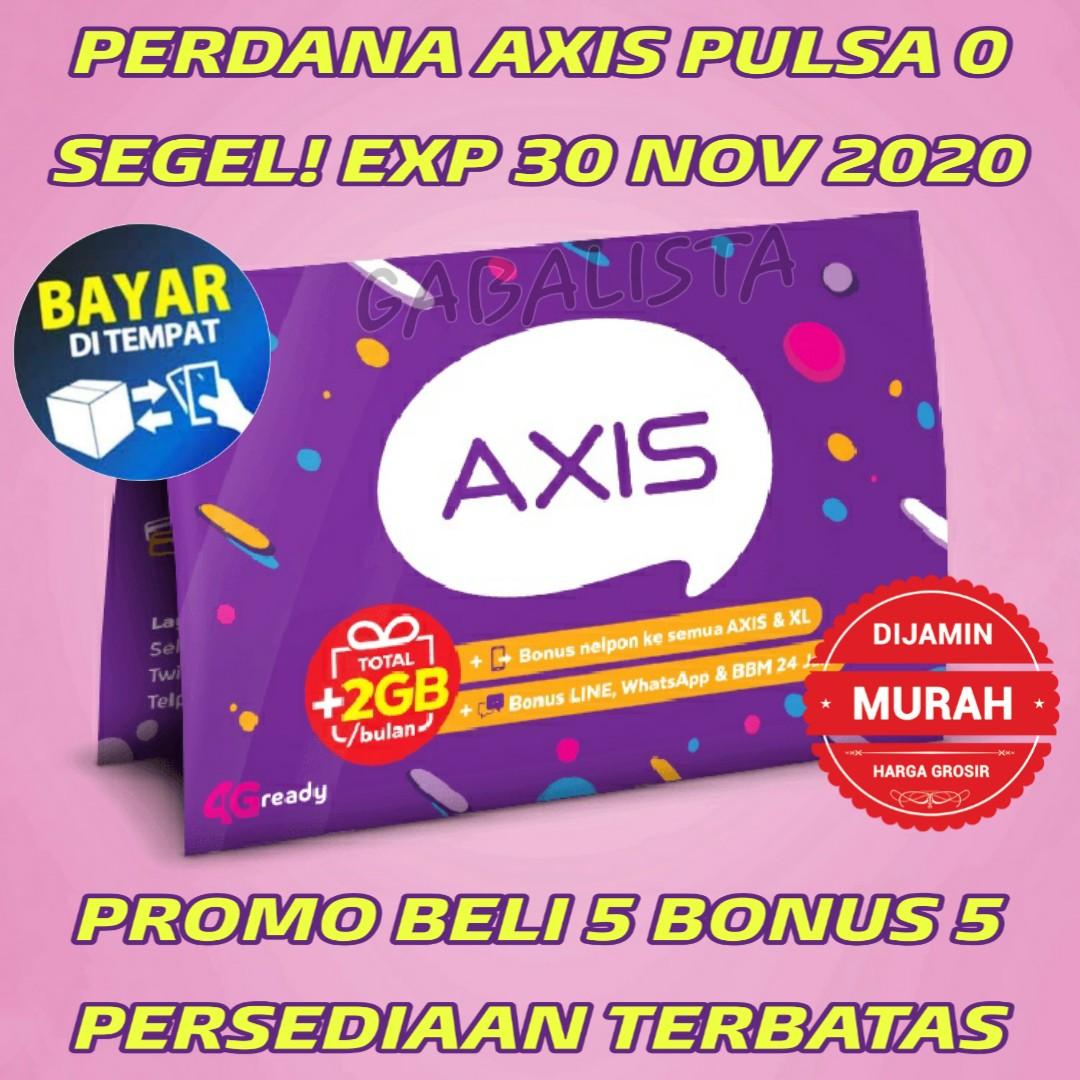 Kartu Perdana Axis Pulsa 0k Reguler (BUKAN Telkomsel Simpati As Loop Indosat im3 Tri smartfren)