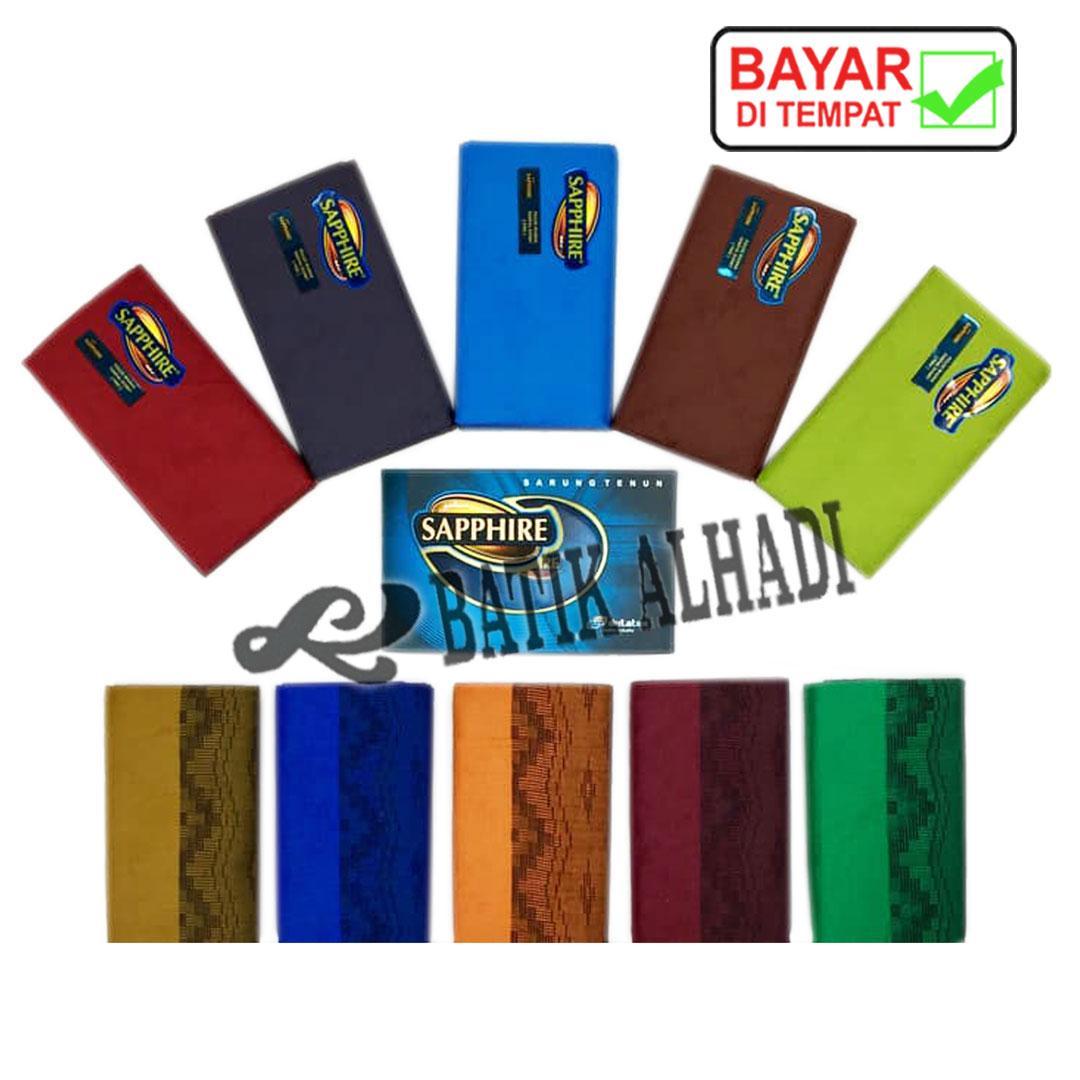 Sarung Tenun Dewasa Sapphire Polos Warna, Bahan Halus dan Lembut (SSP001-10) Batik Alhadi