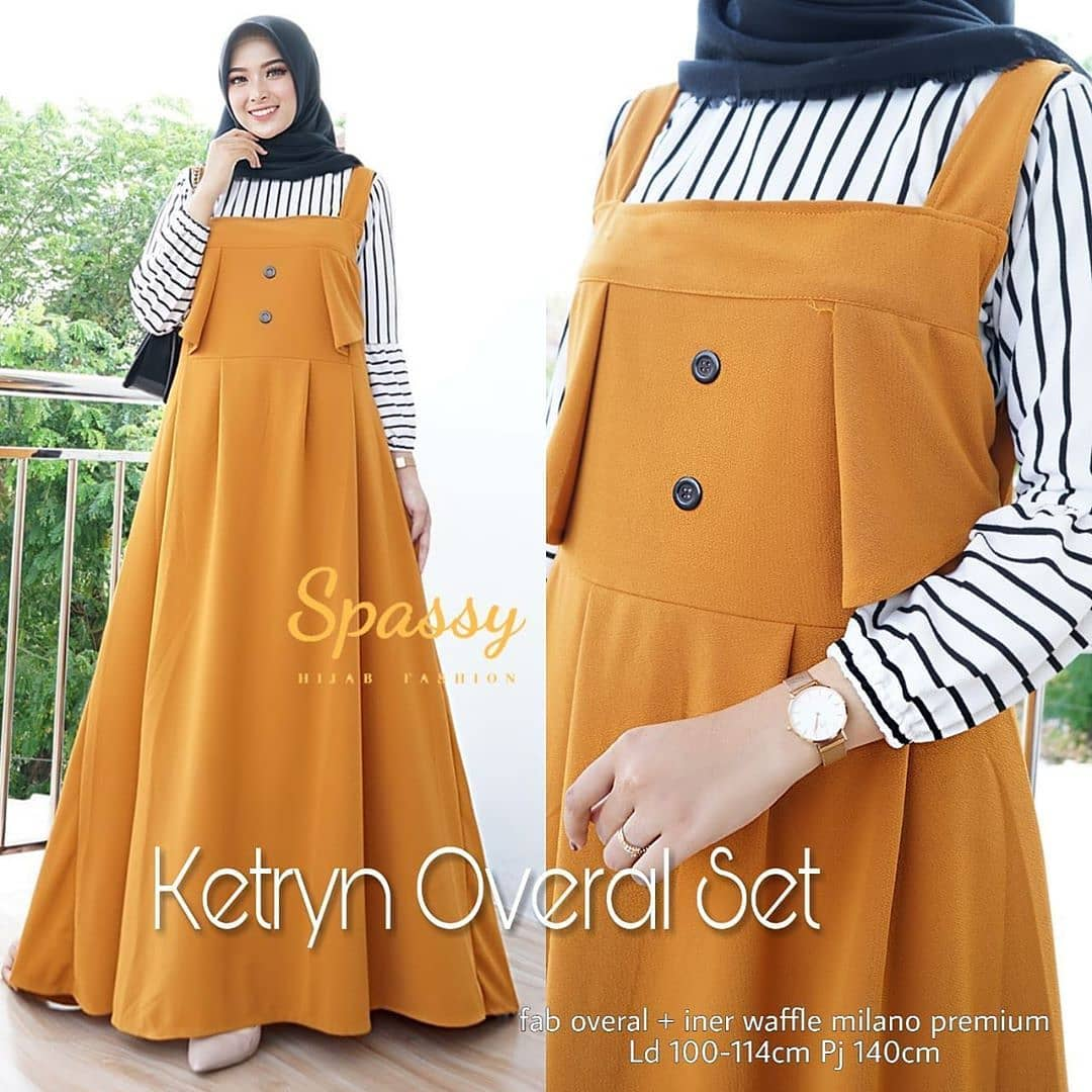Ketryn Overall Overall Set Spassy Ori Gamis Wanita Gamis Wanita Terbaru 2020 Gamis Terbaru 2020 Modern Gamis Baju Gamis Wanita Terbaru 2020 Gamis Remaja