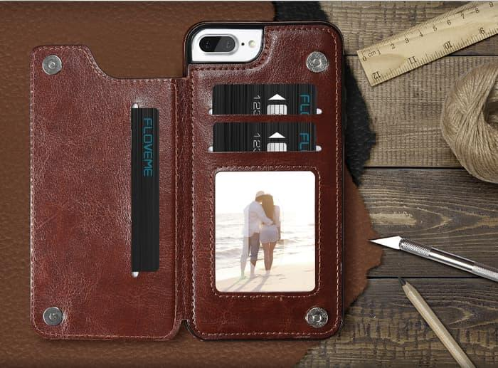 JUAL DOMPET /   iPhone 6 6s  Premium Wallet Cover Flip Leather Case Dompet Hp import / dompeet-1144