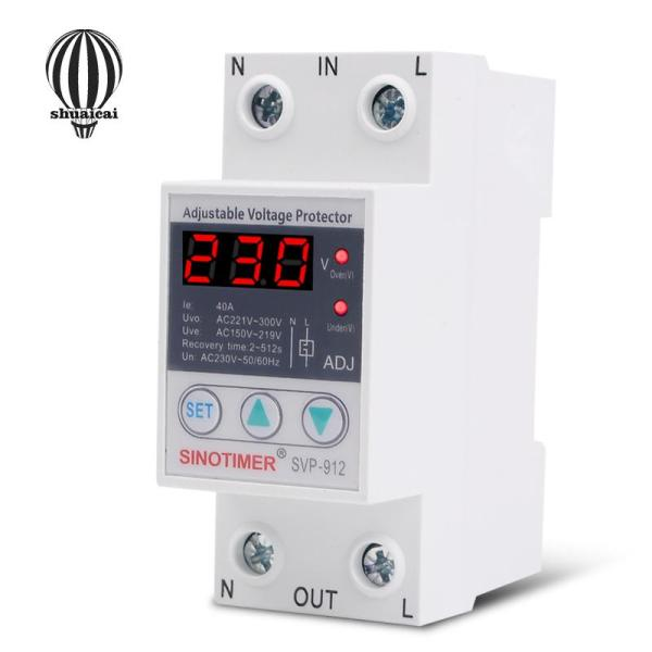 SC 220V Adjustable Automatic Reconnect Device Over Under Voltage Relay Protector Switch