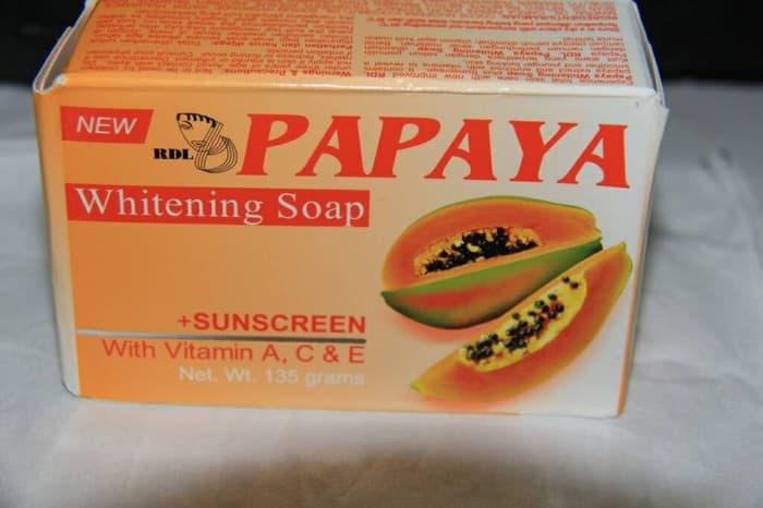 Asli Resmi Cod Rdl Papaya Brightening Whitening Soap 135 Gram Lazada Indonesia
