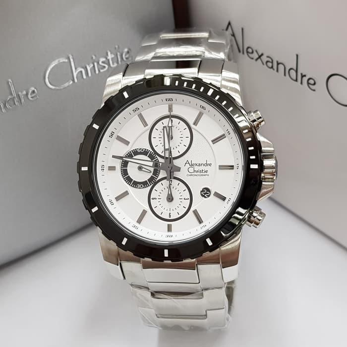 Alexandre Christie AC 6141M Jam Tangan Cowok / Pria Stainless Steel Chronoraph