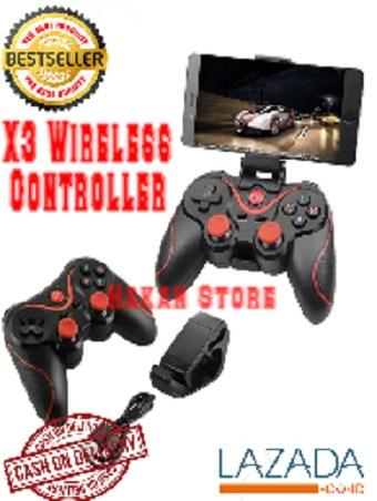 New.. Portable GAMEPAD Stik Bluetooth X3 Wireless Controller For Handphone // Hp Tablet Laptop Pc Komputer Cpu Android joystik Stick Game Bluetooth X3 Wireless Controller