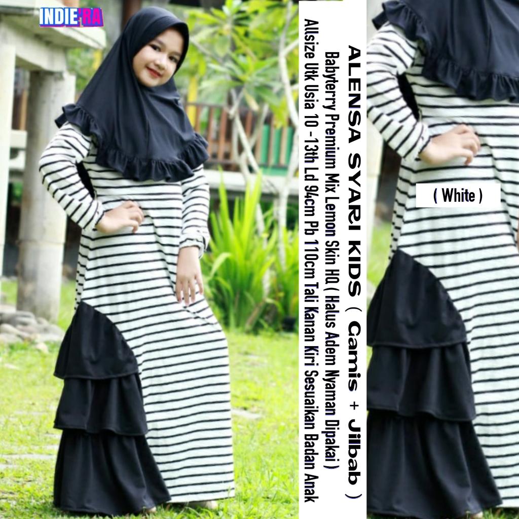 Alensya Syari Kids Jilbab Babyterrry Premium Usia 10 13 Tahun Baju Muslim Anak Perempuan Baju Muslim Anak Perempuan 12 Tahun Baju Muslim Anak Baju