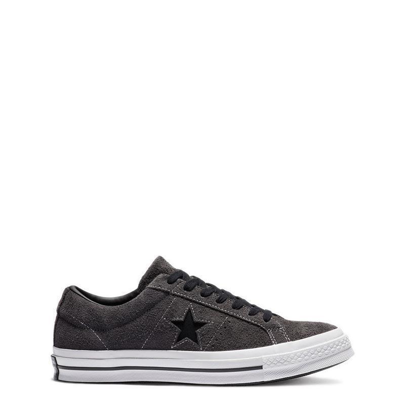 Converse One Star Dark Star Vintage Suede Ox Sepatu Pria - Hitam