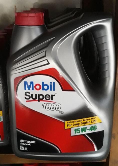 Mobil super 1000, 15W-40, 1 galon @4lt