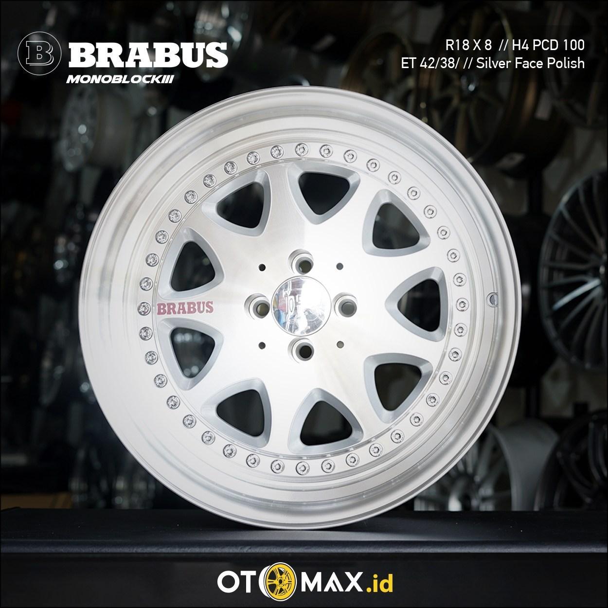Velg Mobil Brabus Monoblock III Ring 18 Silver Full Polish