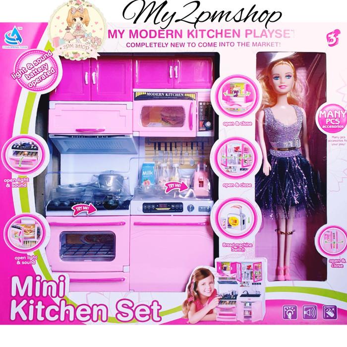 Mini Kitchen Set Barbie Mainan Anak Perempuan Kado Ultah Tersedia Juga Barbie Mainan Barbie Yang Bisa Di Tekuk Barbie Asli Barbie Hamil Barbie Yang Bisa Di Tekuk Murah Lazada Indonesia