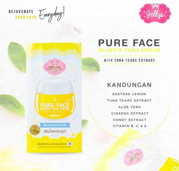 TERLARIS Jellys Pure Face Bluefin Tuna Cream Original Thailand 100 - MEMXzhay