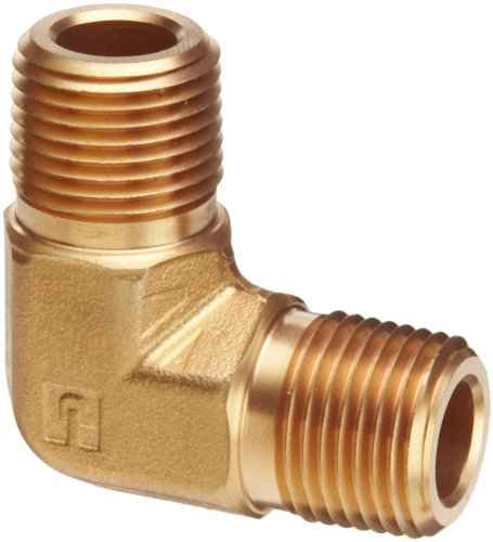 Parker 032510250 3251 Series Brass Right Angle Flow Control Valves 1//4 NPT Male x Female 125 psi